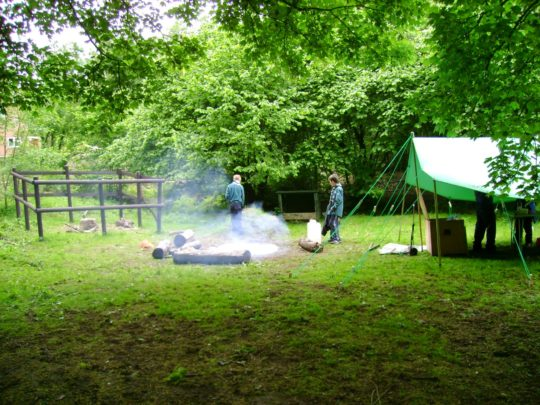 4th Sevenoaks - One of the patrol camping areas