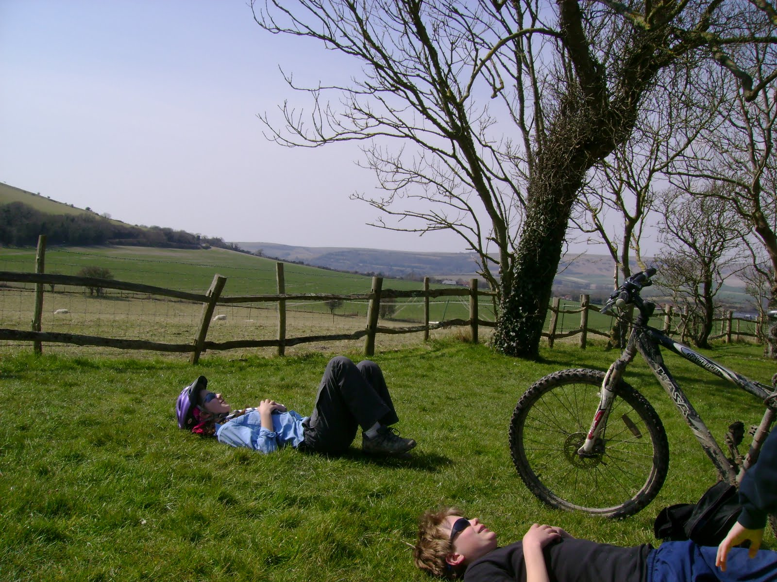 Even the scenery was no match for a lie-down by lunchtime on day two.