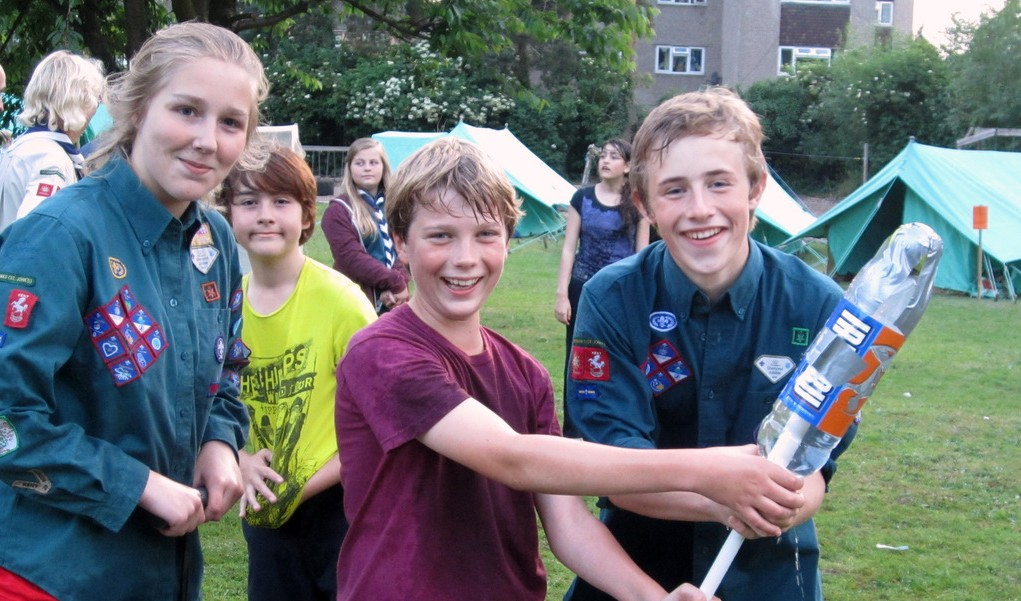 4th Sevenoaks scouts read to launch their water rocket