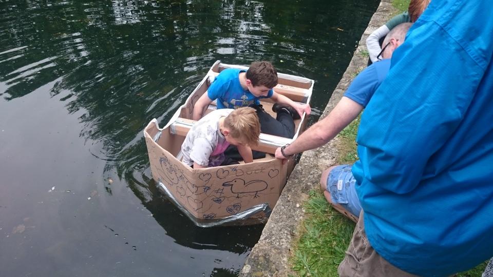 how to make a cardboard canoe